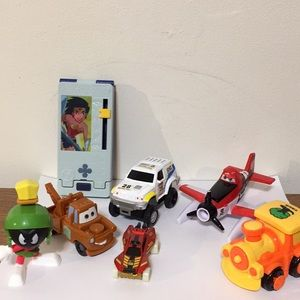 Assorted vehicles and toys, seven items